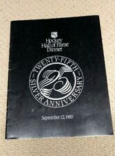 1985 Hockey Hall Of Fame Induction Dinner Program (Cheevers, Olmstead, Ratelle)