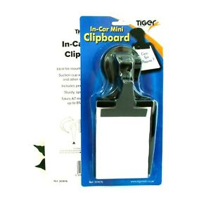 Clipboard Mini In-Car Clip board for Dashboard and Pen Pack x 2 Suction Cup