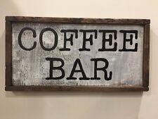 Framed Rustic Wood Sign - Coffee bar, kitchen decor, farmhouse, primitive