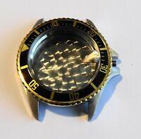 Teil Uhrenhandel Armbanduhr Gehäuse Chrono Leer Schweiz 20 Atm Quarz Schweizer