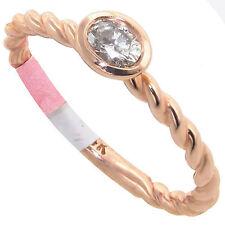 Oval 10 Carat Rose Gold Fine Diamond Rings