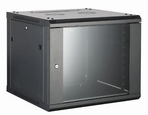 15U Wall Mounted Server Cabinet 600 (W) x 450 (D) Glass Front Door 19 rack cabin