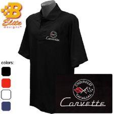 C1 Corvette Embroidered Men's Performance Polo Shirt BDC1EP102