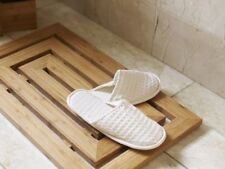 Luxury Bamboo Wood Wooden Pattern Duck Board Shower Bath Mat Slatted Non Slip