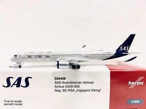 Herpa Wings SAS Scandinavian Airlines Airbus A350-900 1:500 SE-RSA 534406