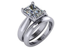 2.57 ct I SI1 radiant natural diamond solitaire engagement weddin ring platinum