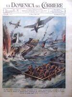 La Domenica del Corriere 12 Marzo 1944 WW2 Aviazione Tedesca Alpi Alchimia Anzio