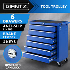 Giantz Tool Box Trolley Chest Cabinet 6 Drawers Cart Garage Storage Toolbox Set