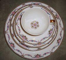 Limoges France Theodore Haviland Flora  85 PC Dinnerware Set Estate Circa