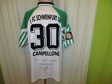 1.FC Schweinfurt 05 hummel Matchworn Trikot 2001/02 + Nr.30 Campellone Gr.XXL