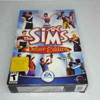 The SIMS Deluxe Edition PC 2 CD-ROM Game BOX Complete Manual Key