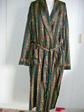 Vintage 1970s Gents dressing gown robe full length Bonsoir London cotton M