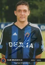 GAETAN ENGLEBERT - signierte Autogrammkarte - Club Brugge WM 2002 Belgien