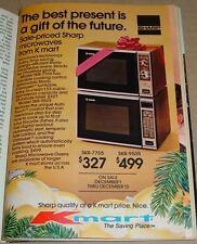 1980 KMART STORE PRINT AD~SHARP MICROWAVE OVEN~CHRISTMAS SALE PROMO