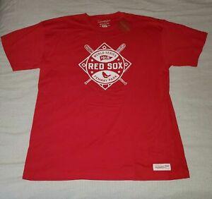 NWT BOSTON RED SOX 1918 WORLD SERIES CHAMPS MITCHELL & NESS MENS T SHIRT XL