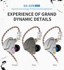 KZ ZSN Pro In Ear Earphones Hybrid technology 1BA 1DD HIFI Bass Metal Earbuds