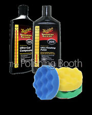 Meguiars M105  Compound & M205 Finishing Polish 8OZ 3M 75mm Pad Kit