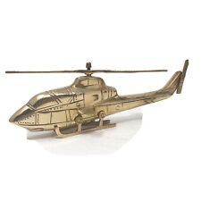Vintage Brass Military Helicopter Sculpture