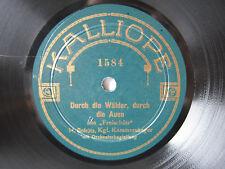 78rpm HANS SCHÜTZ (Baritone) on RARE ACOUSTIC KALLIOPE ! Weber Freischütz