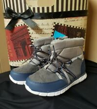 Surprize by STRIDE RITE Toddler  Mike Winter Fashion Boots Gray/Blue Boys