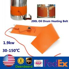 200L Silicon Rubber Band Heater 1900W Oil Drum Heating Belt Heating 30-150℃