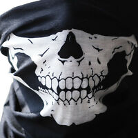 Skull Bandana Cloth Face Mask Tube Scarf Fabric Skeleton Motorcycle Headband Ski