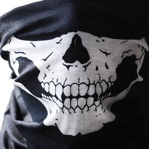 Skull Bandana Cloth Face Mask Tube Scarf Fabric Skeleton Motorcycle Headband Ski