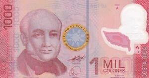 UNC 2009 Costa Rica 1,000 Colones Polymer Note, Pick 274a