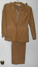 Blassport Ultra Suede Camel Color Pants Suite Size 4, Bill Blass