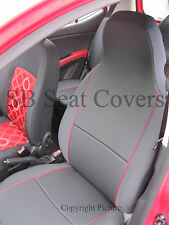 ISUZU TROOPER / RODEO DENVER /D MAX CAR SEAT COVERS CHARCOAL GREY RED PIPING