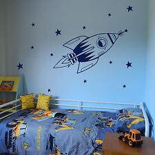 Space Wall Stickers Transfer Graphic Decal Decor Art Stencil Boys Rocket Sticker