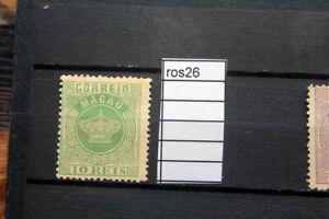 stamps MACAU (CHINA) 1885 CROWN  10 reis  green  Scott 3 mint no gum (ros26