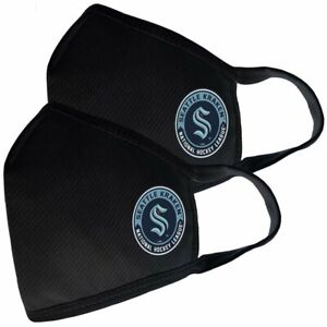 Seattle Kraken NHL Team Logo Two Pack Face Covers with Filter