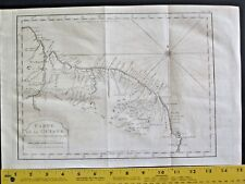 Map of Guyana,Large Copper Engraving,1774