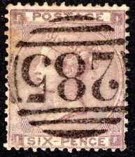 QV 1862 6d  SG84 Lilac Good Used EXETER Cancellation