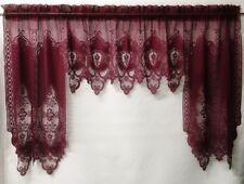 "Burgundy Lace Swag Chapel 70"" x 35"" Diningroom Livingroom Bedroom Bathroom"
