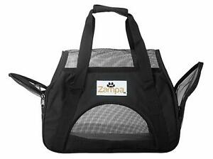 Zampa Airline Approved Soft Sided Pet Carrier, Low Profile Travel Tote