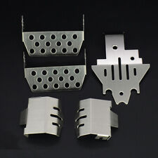 5pcs Stainless Steel Protector Skid Plate Set For 1/10 RC Traxxas TRX-4 Crawler