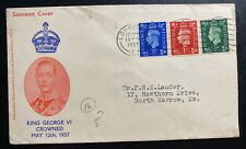 1937 London England First Day Cover FDC King George VI Coronation KGVI Souvenir