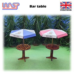 WASP Bar table and umbrella, Pub table, bench, scenery, 1/32, kit