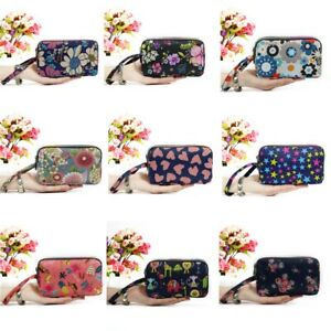 Women Nylon Small Coin Purse Card Zipper Wallet Holder Phone Bag Clutch Handbag