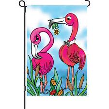 Pink Flamingo Sweet Surrender Garden Size Flag..4.... PR 51717