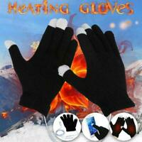 Heating Gloves Winter Hand Warmer Heated Knitted Mittens USB Long-Lasting P2F6