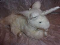"Universal Studios White Unicorn Mystical 12"" Plush Soft Toy Stuffed Animal"
