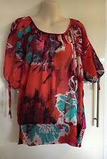 Hot options colourful blouse top Size 16