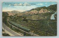 Newhall Pass, Railway, Train, Los Angeles Aqueduct, California Postcard