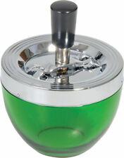 """Glass Spinner Ashtray - 4.75"""" / Green"""