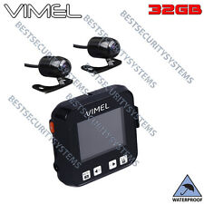 Dual Motorbike camera MotorCycle Twin Dash Car Truck Waterproof Hardwired Kit