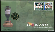 2007 Howzat! The Ashes Cricket 6687/8000 Limited PNC Coin Stamp Australia