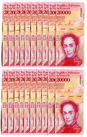 VENEZUELA BOLIVARES20 X 20000 (20,000) P-NEW UNC LOT 20 PCS Total
